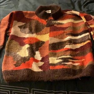 Men's wool/alpaca/angora handmade sweater
